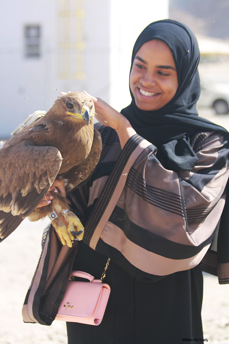 Beautiful and exotic picture of the conservation work in distant Oman. Photo: Mike McGrady
