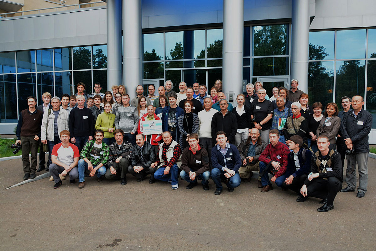 "The participants of the international conference ""Eagles Palaearctic: Study and Conservation"" in Elabuga, Tatarstan, 20-22 September 2013. Fot. Andrey Kowalyenko."